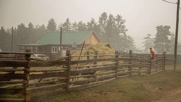 Территория села Бясь-Кюель в Якутии, пострадавшего от пожаров