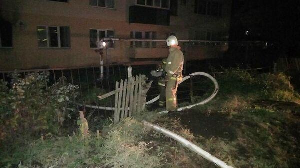 Пожар в селе Ольгино Самарской области