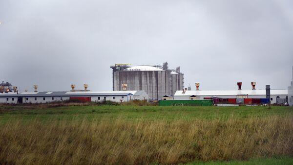Завод по сжижению природного газа (СПГ) компании Сахалин Энерджи в Южно-Сахалинске