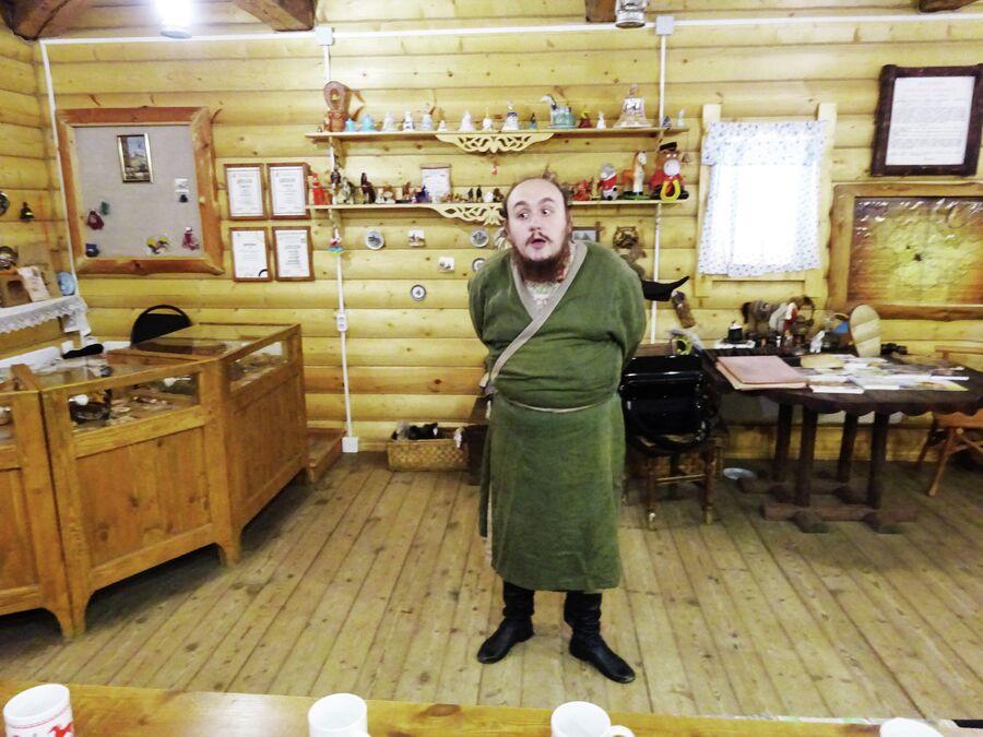 Ямщик Гаврила в Музее ямщика