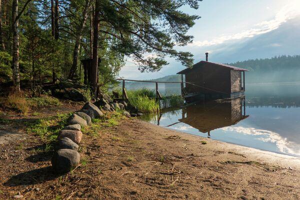 Домик на Ладожском озере в Карелии
