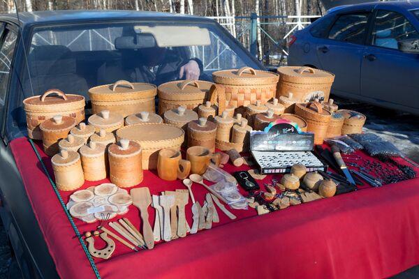 Продажа изделий из бересты в Карелии