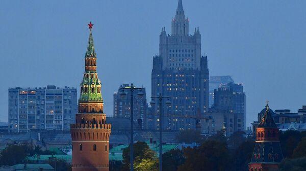 Московский Кремль и здание МИД России