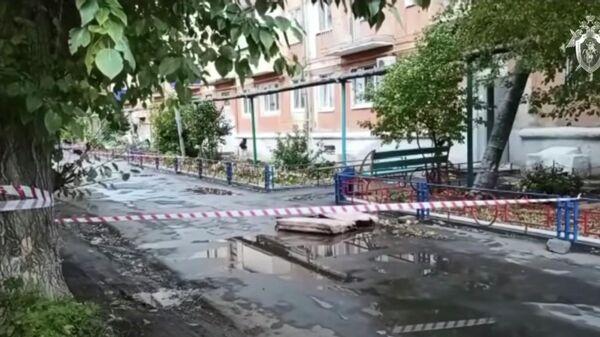На месте убийства трех девушек в Оренбургской области. Кадр видео