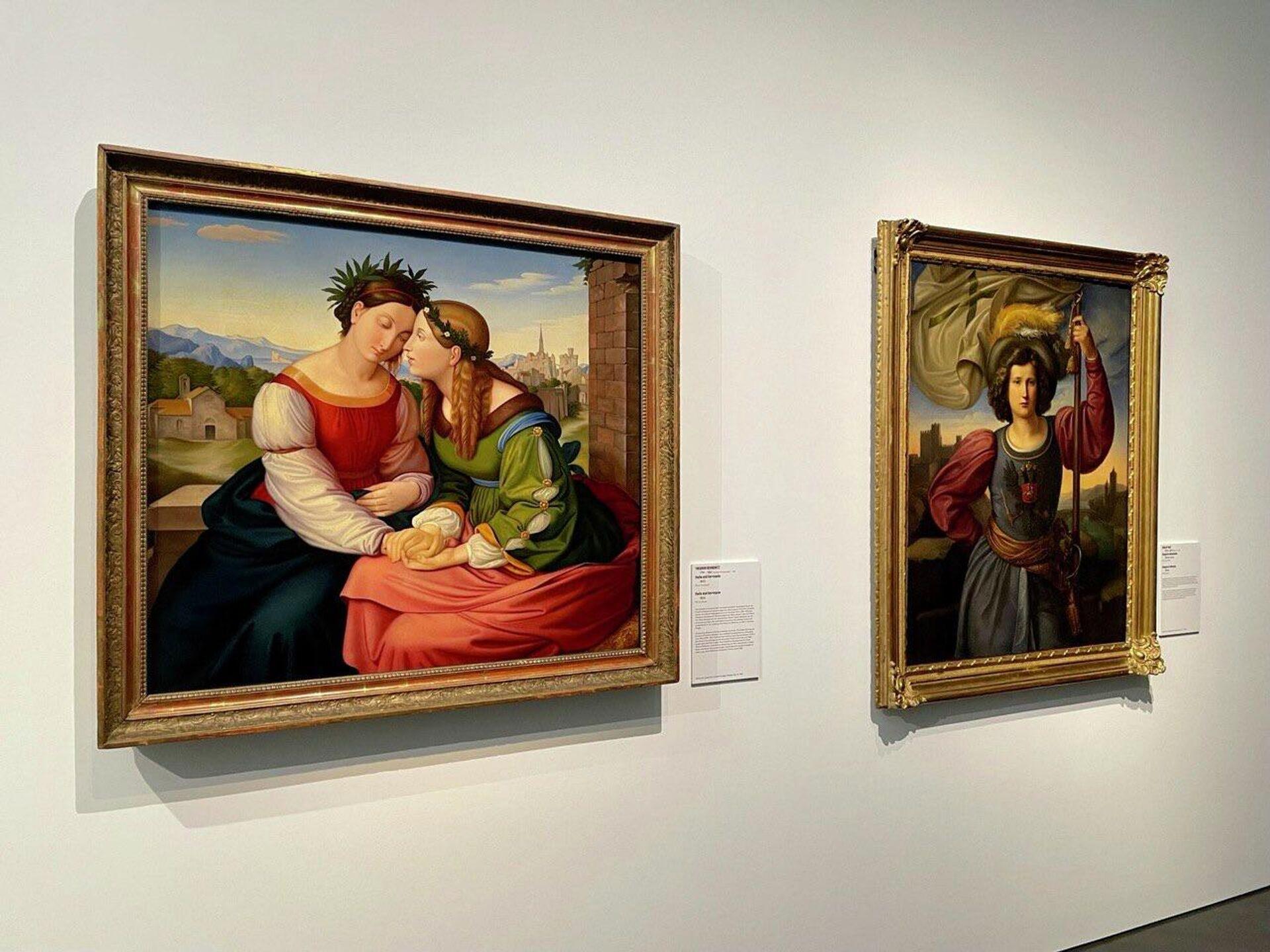 На выставке Мечты о свободе. Романтизм в России и Германии в Дрездене - РИА Новости, 1920, 01.10.2021