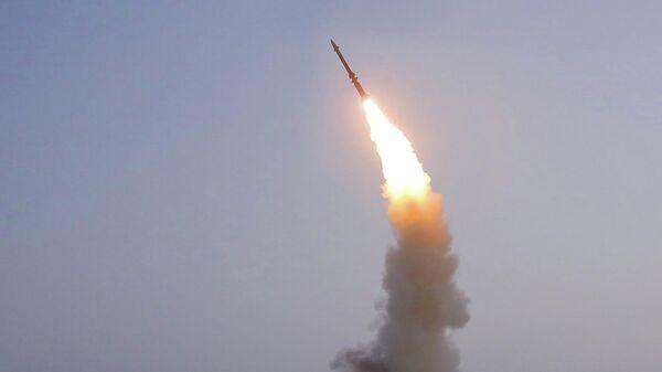 Испытания новой зенитной ракеты в КНДР
