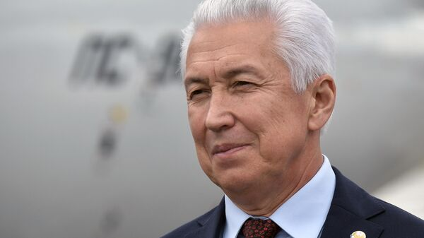 Владимир Васильев в аэропорту Махачкалы