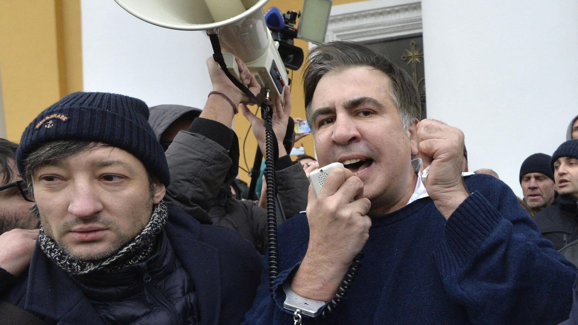 Бывший президент Грузии Михаил Саакашвили в Киеве - РИА Новости, 1920, 02.10.2021