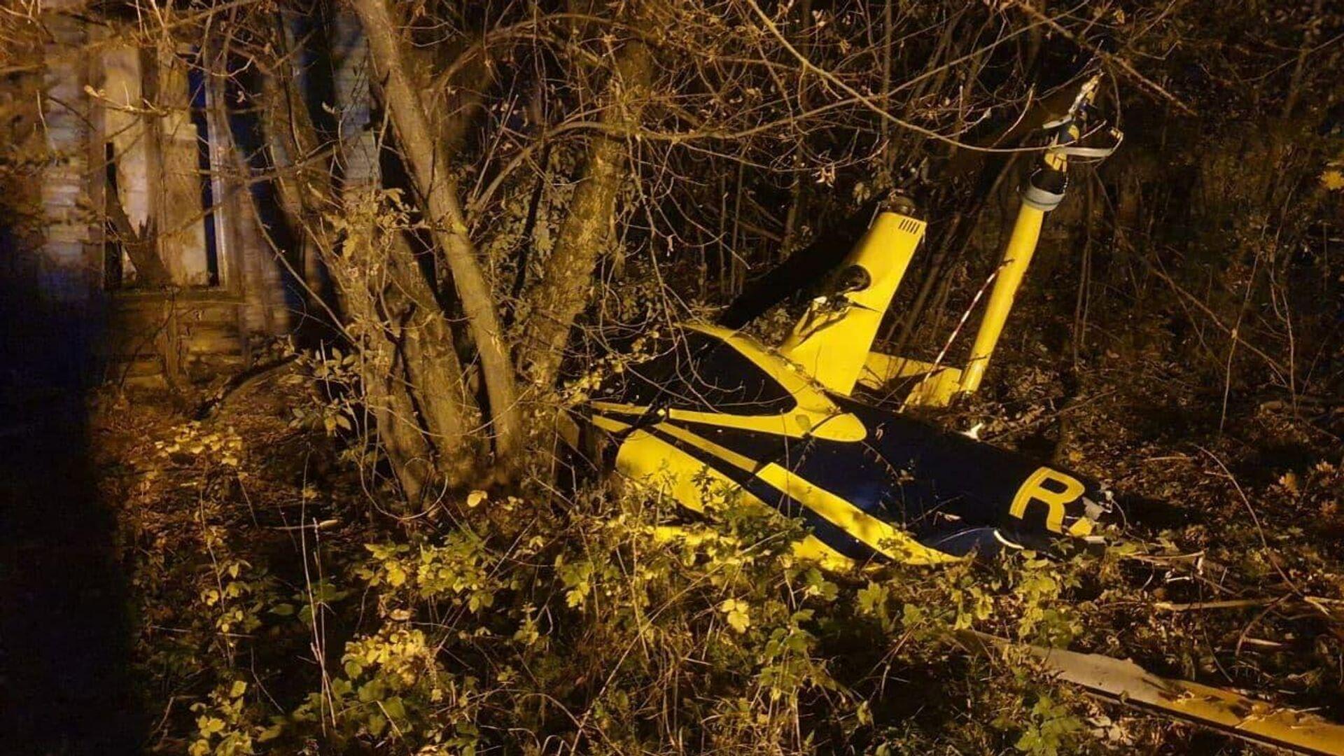 Bертолет упал в городском округе Лыткарино в Подмосковье - РИА Новости, 1920, 04.10.2021