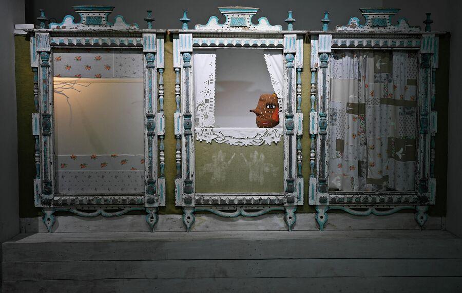 Музей наличников Вычурны Балясины в поселке Висим. Свердловская область