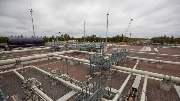 Береговые объекты на территории газораспределительного центра газопровода Северный поток-2 в Германии