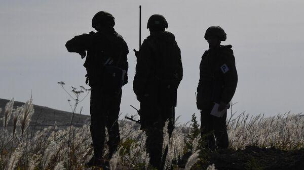 Военнослужащие во время учений