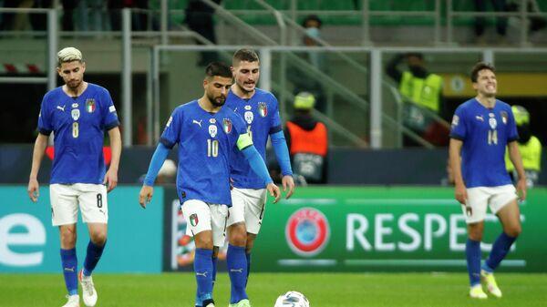 Футболисты сборной Италии в матче Лиги наций против Испании