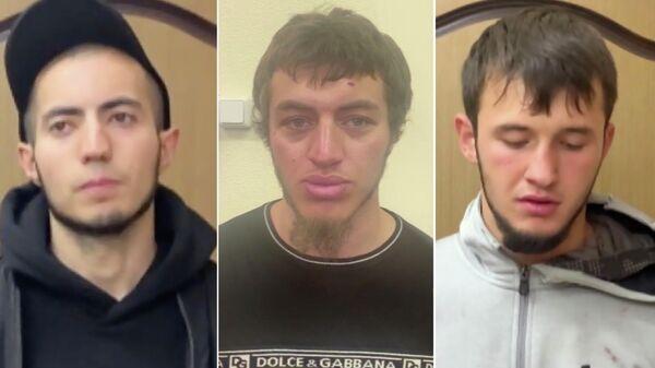 Подозреваемые в нападении на Романа Ковалева в столичном метро. Оперативная съемка