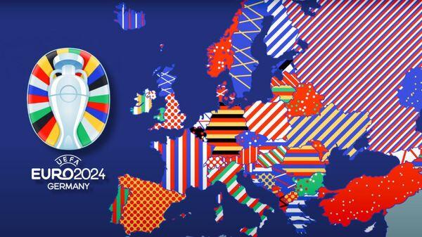 Карта Европы / Логотип Евро 2024