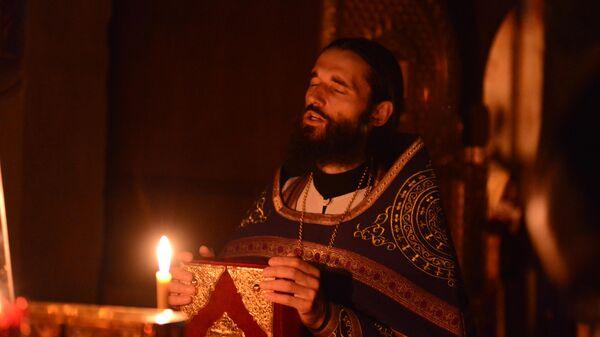 Чтение Апокалипсиса в Троицком соборе Данилова монастыря в Переславле-Залесском