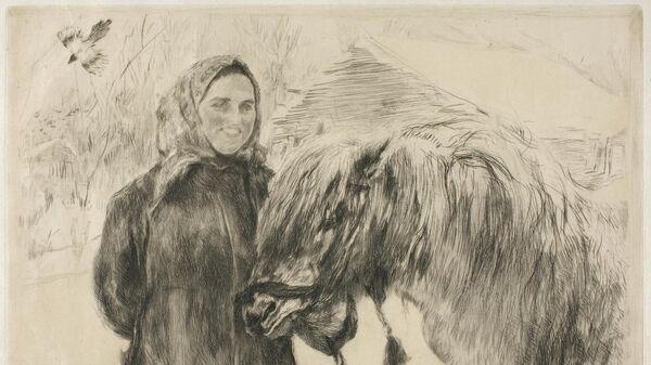 Серов В.А. Баба с лошадью. 1899