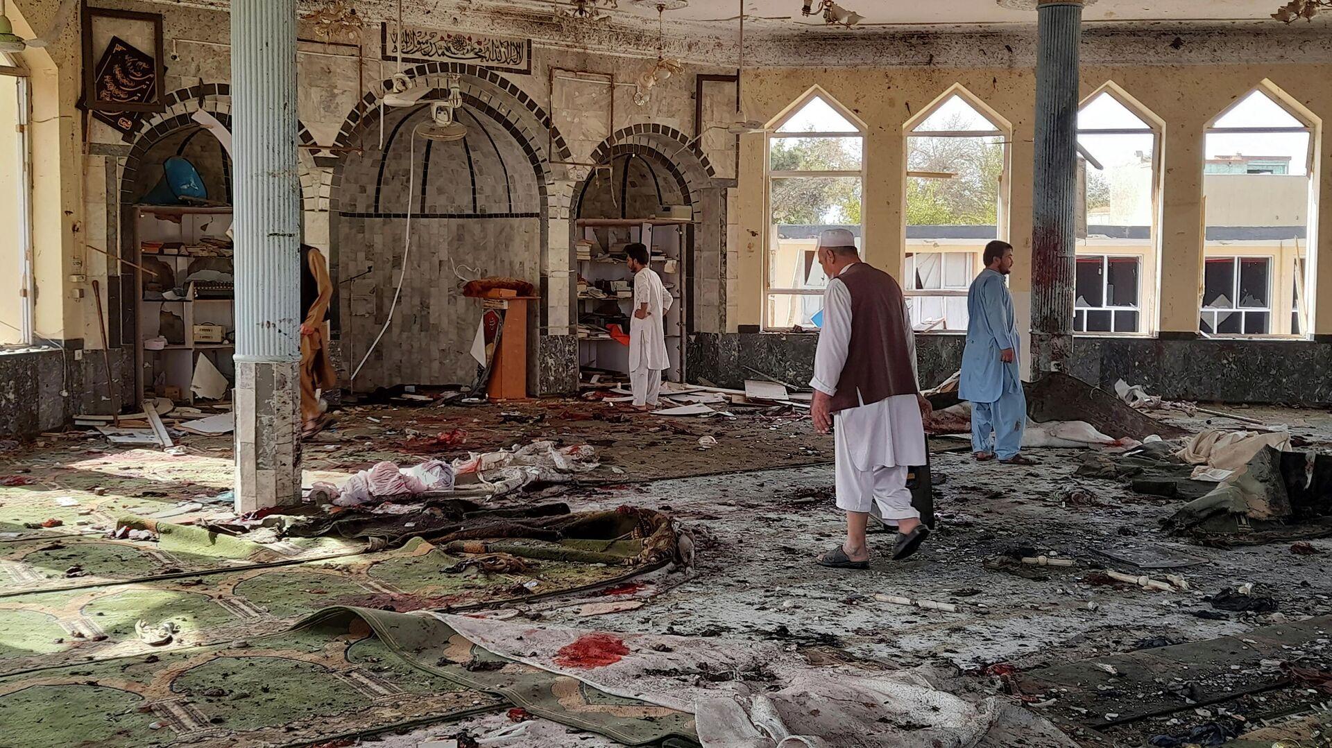 Место взрыва в мечети в афганской провинции Кундуз - РИА Новости, 1920, 08.10.2021