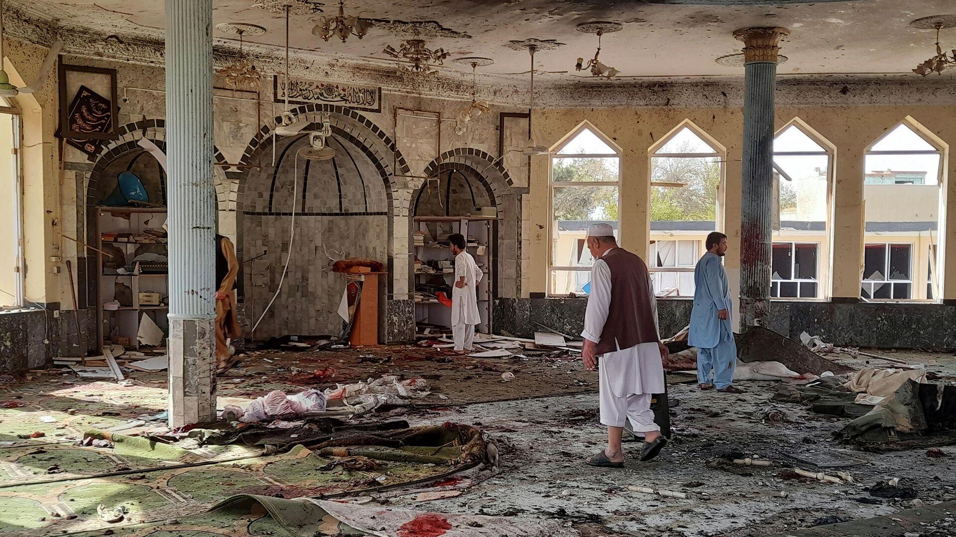 Место взрыва в мечети в афганской провинции Кундуз - РИА Новости, 1920, 13.10.2021