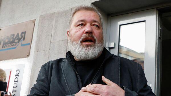 Главный редактор Новой газеты Дмитрий Муратов в Москве