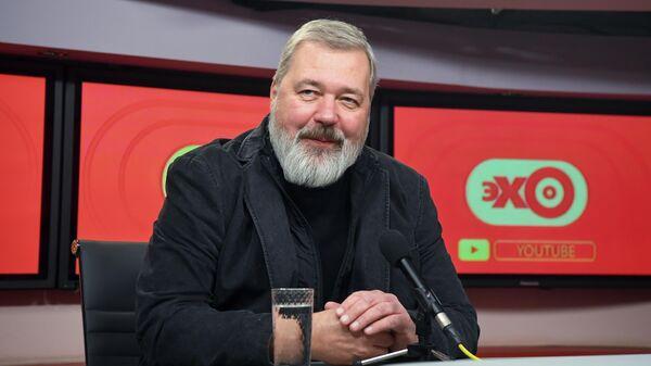 Главный редактор Новой газеты Дмитрий Муратов в студии радиостанции Эхо Москвы