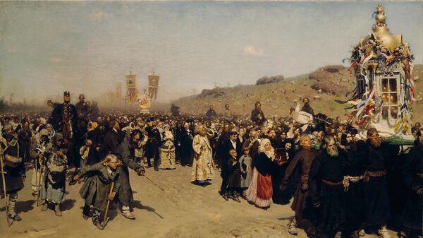 Репин И.Е. Крестный ход в Курской губернии. 1881-1883