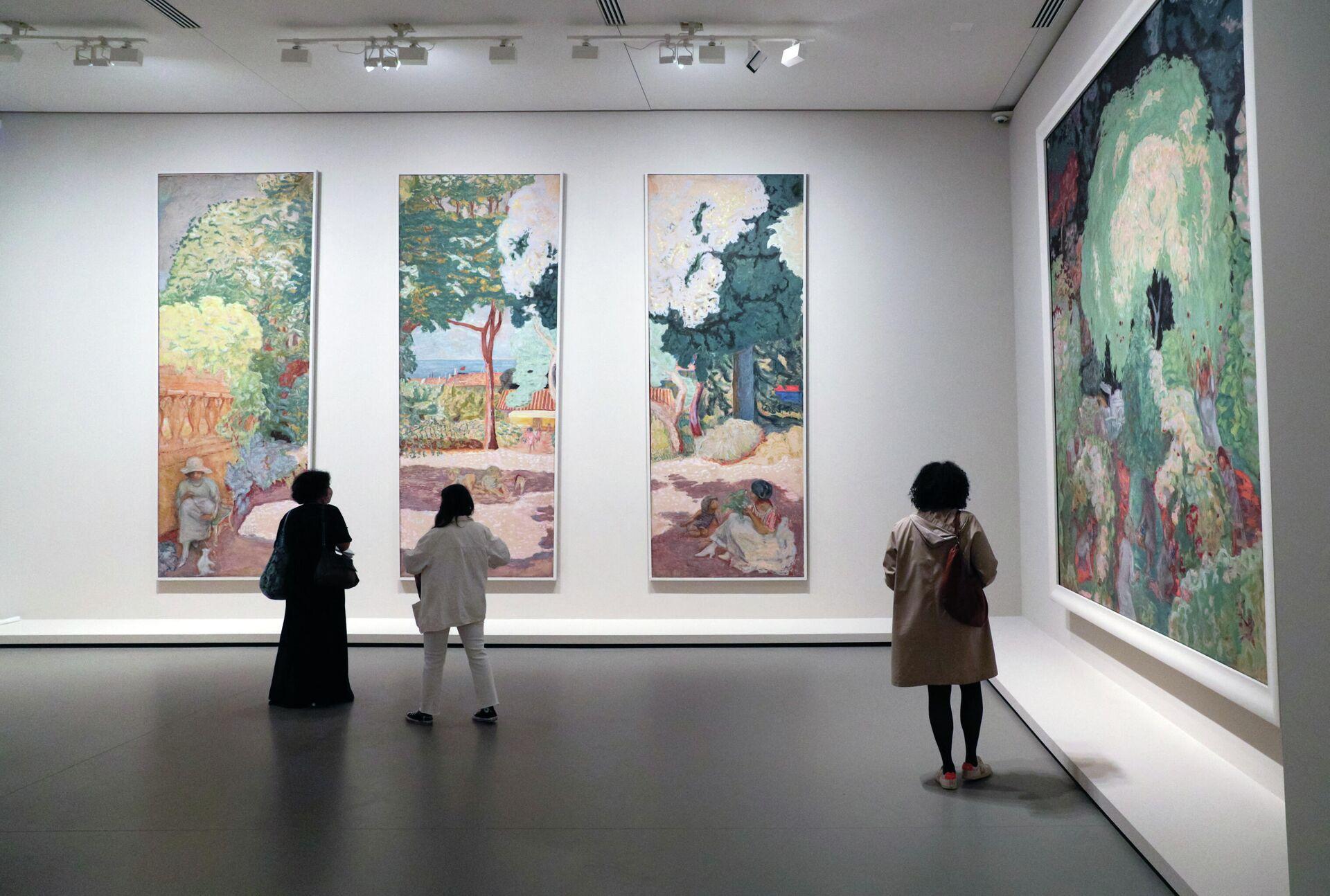 Пресс-показ выставки Коллекция Морозова, иконы современного искусства в фонде Louis Vuitton в Париже - РИА Новости, 1920, 11.10.2021