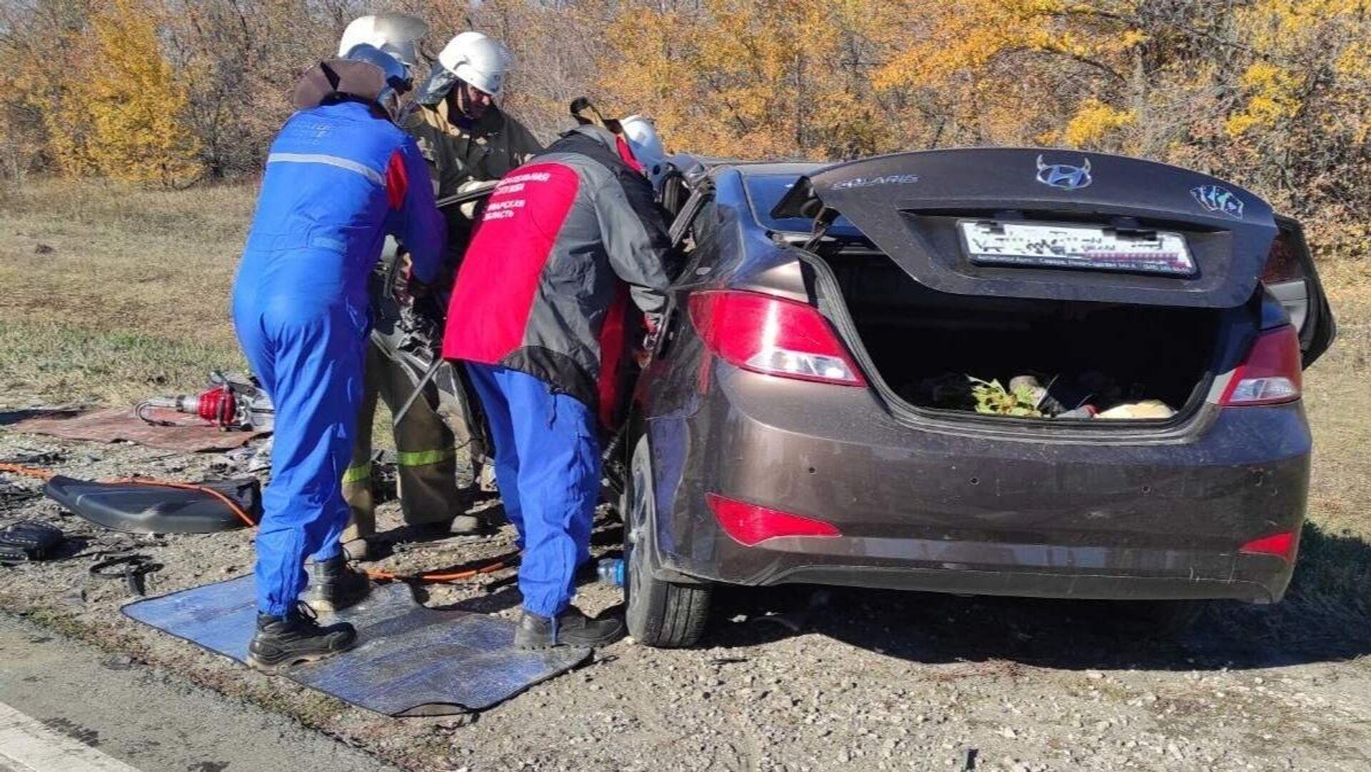 ДТП на восьмом километре автодороги М-5 Урал под Самарой1