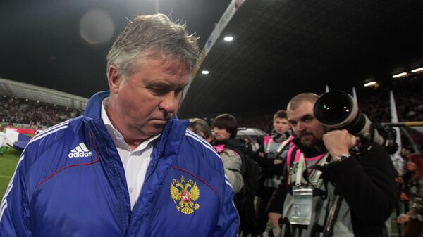 Гус Хиддинк после поражения сборной России в матче со Словенией, 2009