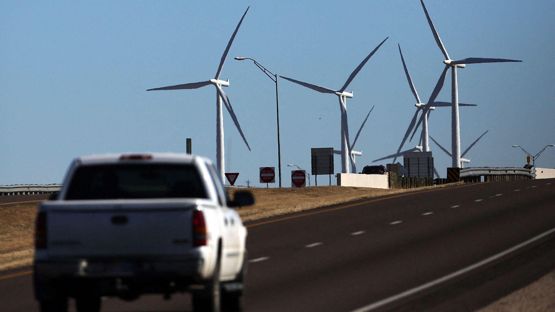 Ветряная электростанция в Колорадо-Сити, США - РИА Новости, 1920, 11.10.2021