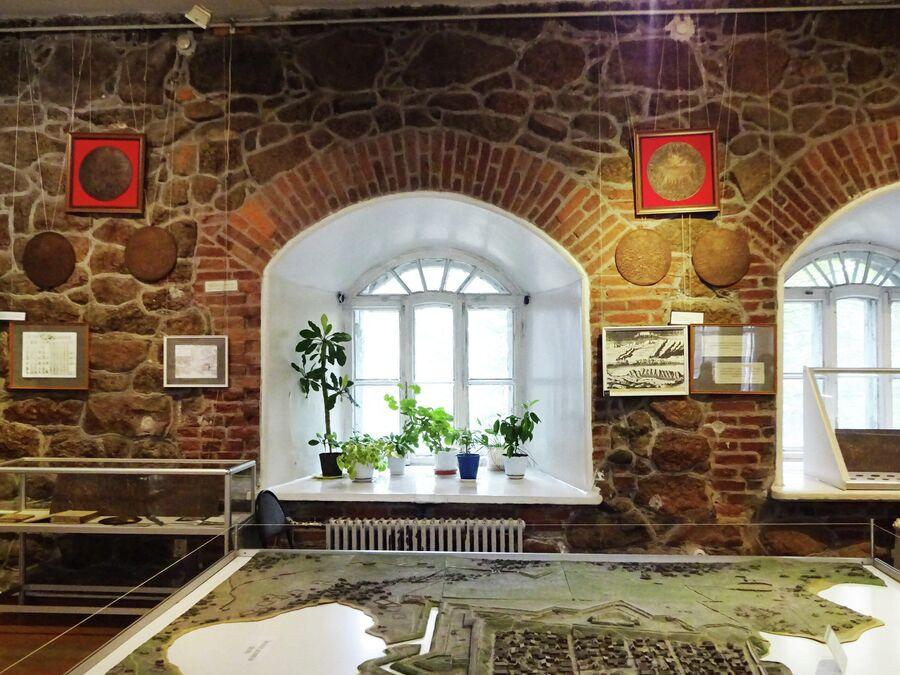 Музей в главном корпусе Выборгского замка