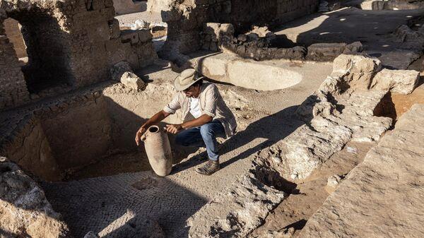 Раскопки винодельни в Израиле