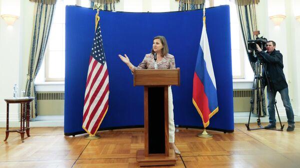 Помощник госсекретаря США Виктория Нуланд в Москве. 18 мая 2015