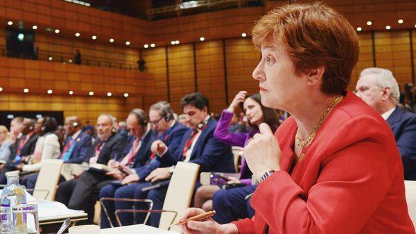 Главный исполнительный директор Всемирного банка Кристалина Георгиева на форуме Африка-Европа в Вене
