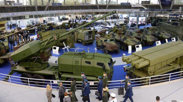 Военная техника на международной выставке вооружения и военной техники PARTNER-2021 в Белграде