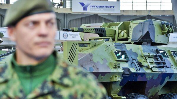30 мм ДУБМ 32В01, разработанный ЦНИИ Буревестник на международной выставке вооружения и военной техники PARTNER-2021 в Белграде