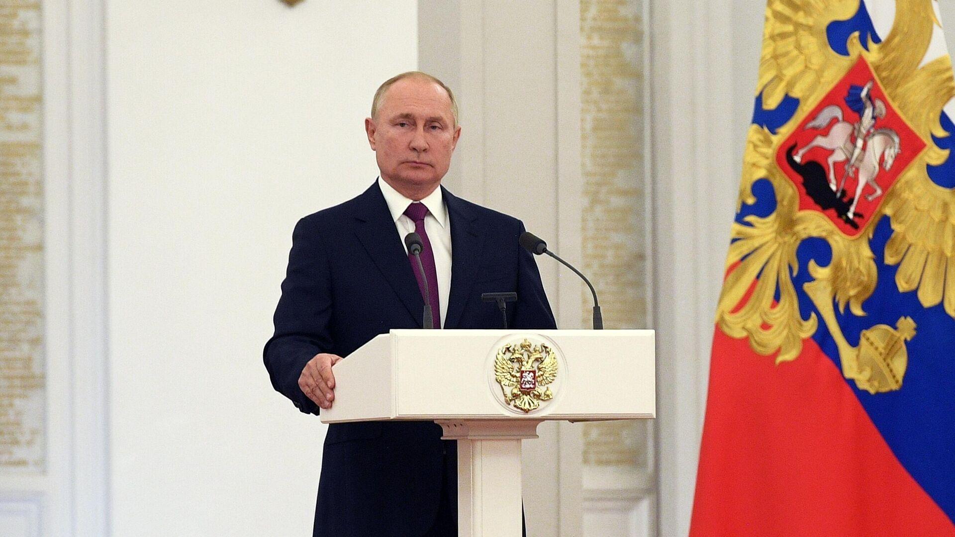 Президент России Владимир Путин - РИА Новости, 1920, 14.10.2021