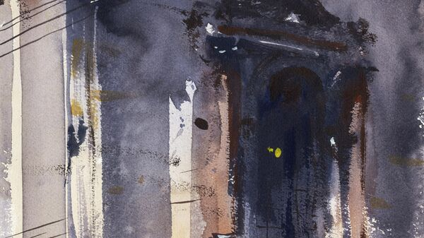 Картина Сергея Кузнецова Фрагмент фасада Исаакиевского собора