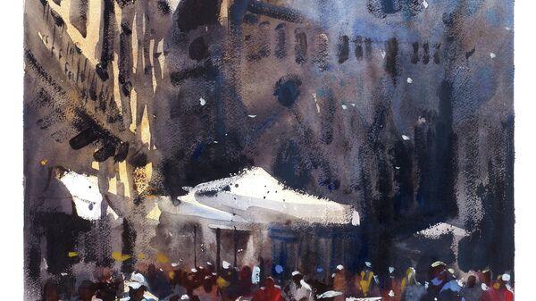 Картина Сергея Кузнецова Пьяцца дель Дуомо, Флоренция