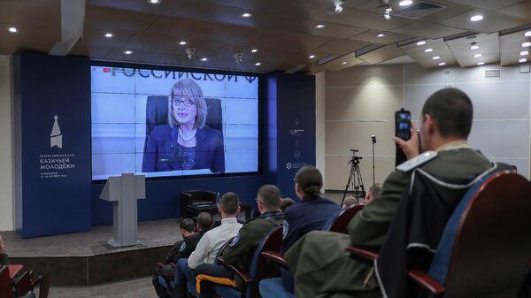 Заместитель министра культуры РФ Алла Манилова на официальной церемонии открытия электронной казачьей библиотеки