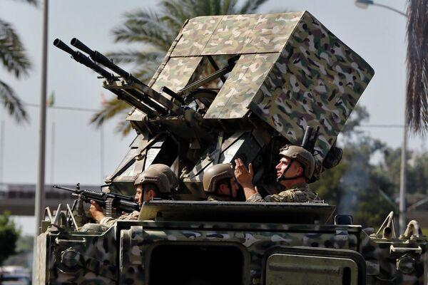 Солдаты ливанской армии на месте акции протеста, Ливан