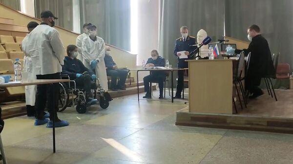 Выездное заседание суда по аресту обвиняемого в стрельбе в вузе