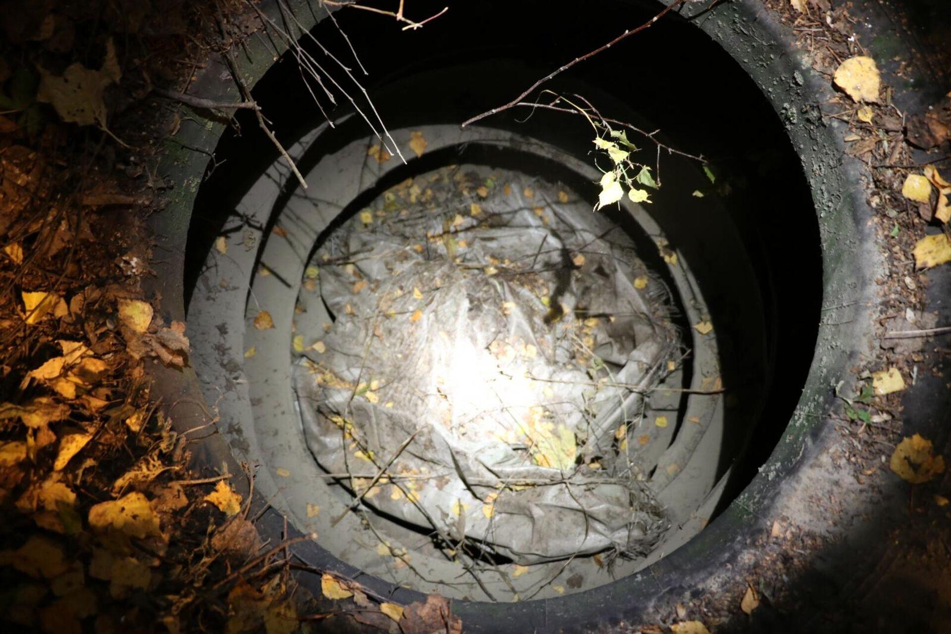 Место в лесополосе около д.Земенки Рязанского района, обнаружено сокрытое под землей и мусором тело - РИА Новости, 1920, 14.10.2021