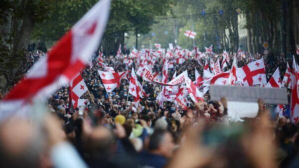 Акция сторонников Саакашвили в Тбилиси