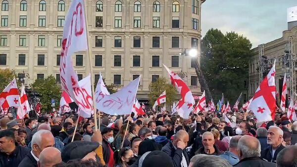 Митинг в Тбилиси в поддержку Саакашвили