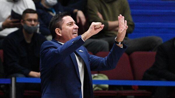 Главный тренер БК Зенит Хавьер Паскуаль в матче регулярного чемпионата мужской баскетбольной Евролиги сезона 2021/2022 между БК Зенит (Россия, Санкт-Петербург) и БК Бавария (Германия, Мюнхен).