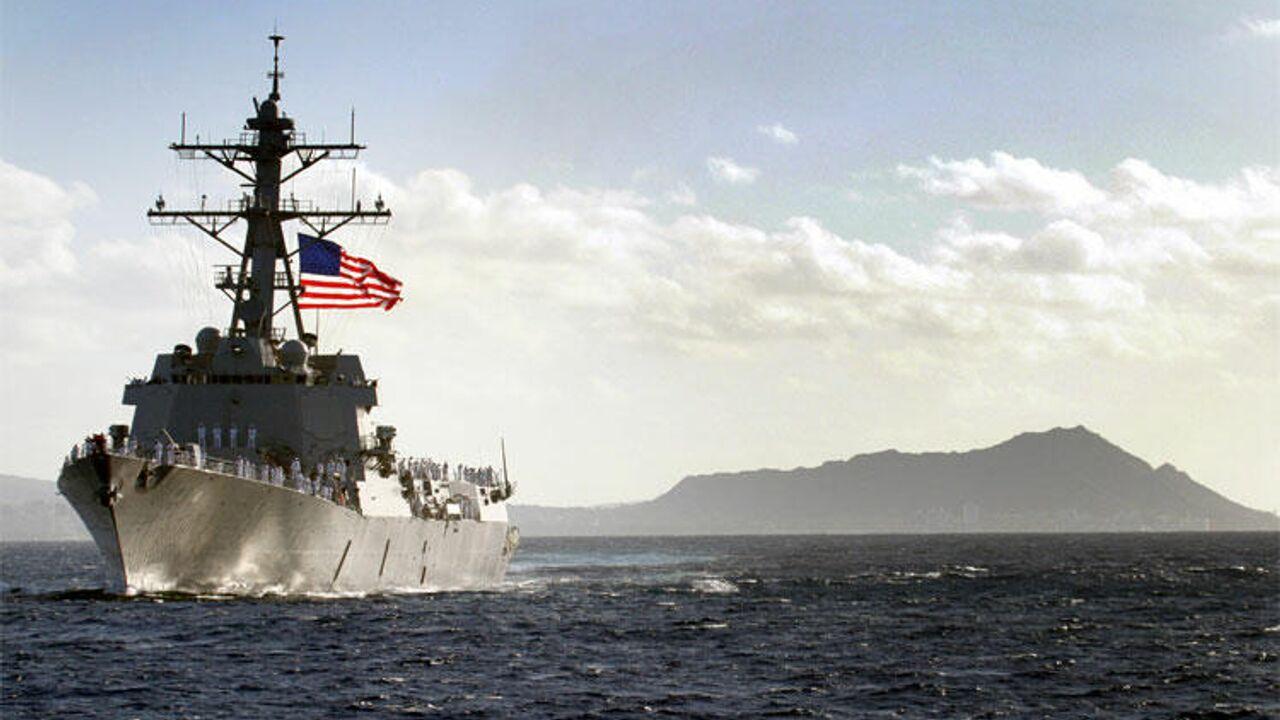 Американский эсминец попытался нарушить