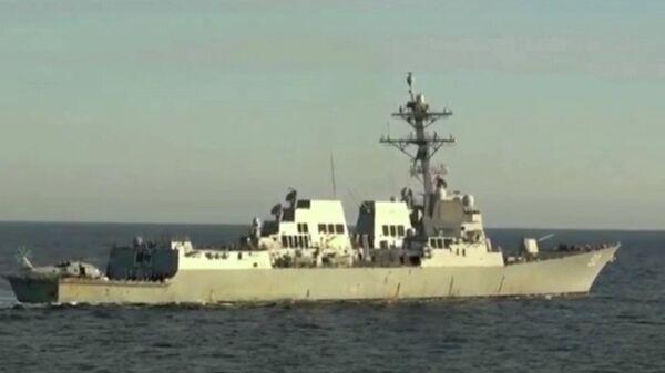 Видео операции по вытеснению американского эсминца из российских вод