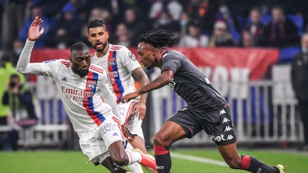 Игровой момент матча Монако - Лион