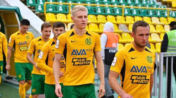 Футболисты Кубани перед матчем ФНЛ